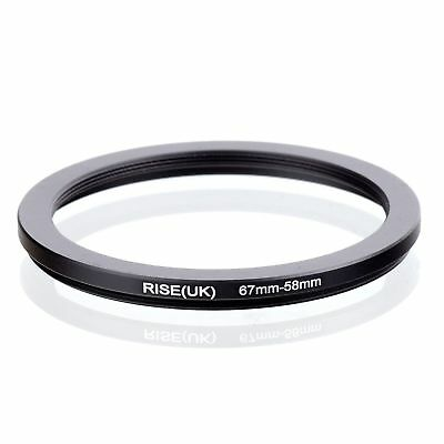 RISE(UK) 67-58 MM 67 MM- 58  MM 67 to 58 Step Down Ring Filter Adapter