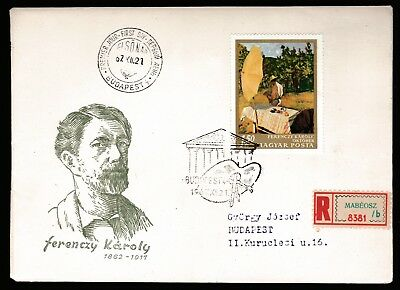 1967 HUNGARY NATIONAL GALLERY PAINTINGS 1.5Ft DECIMAL STAMP FIRST DAY COVER #A59