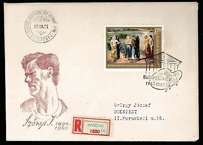 1967 HUNGARY NATIONAL GALLERY PAINTINGS 1.7Ft DECIMAL STAMP FIRST DAY COVER #A57