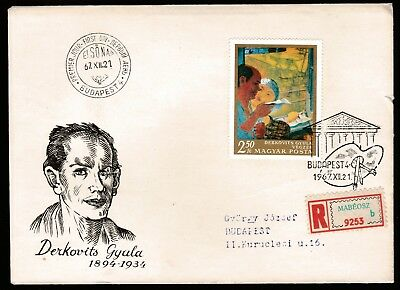 1967 HUNGARY NATIONAL GALLERY PAINTINGS 2.5Ft DECIMAL STAMP FIRST DAY COVER #A58
