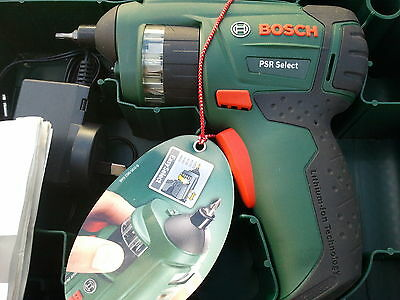 Bosch Psr Select Rechargeable Li Ion Cordless Screw Driver Set Made In Hungary