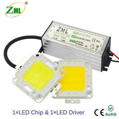 LED Chip Bulb SMD + Driver Power Supply Waterproof 10W 20W 30W 50W 100W