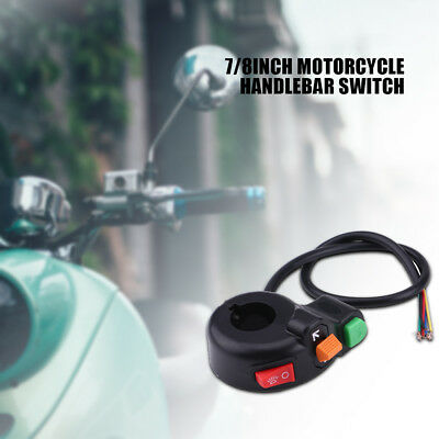 22mm Motorcycle Scooter Button Headlight Horn On/Off Control Handlebar Switch BT