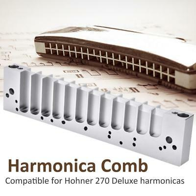 Harmonica Comb for HOHNER 270 Deluxe with Screwdriver & Screws Stainless Steel