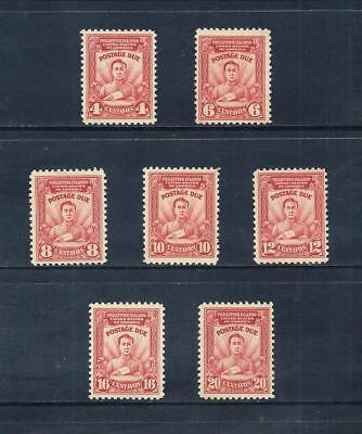 PHILIPPINES _ 1928 'POSTAGE DUE' SET of 7 _ mh ____(535)