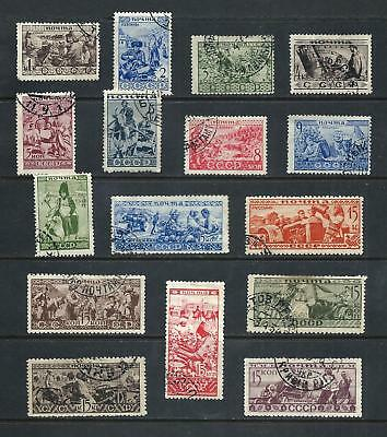 RUSSIA _ 1933 'ETHNOGRAPHICAL' 16 _ used ____(535)