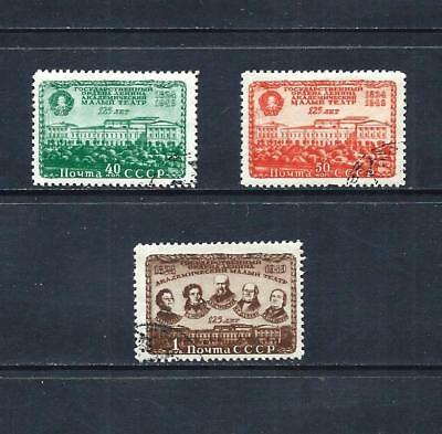 RUSSIA _ 1949 'MALY THEATRE' SET of 3 _ used ____(535)