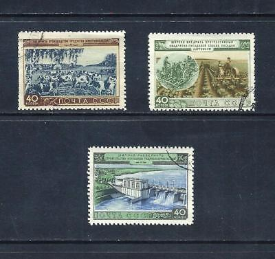 RUSSIA _ 1954 AGRICULTURAL' SET of 3 _ used ____(535)