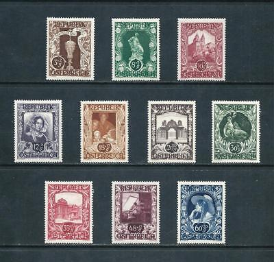 AUSTRIA _ 1947 'ART EXHIBIT' SET of 10 _ mlh ____(535)