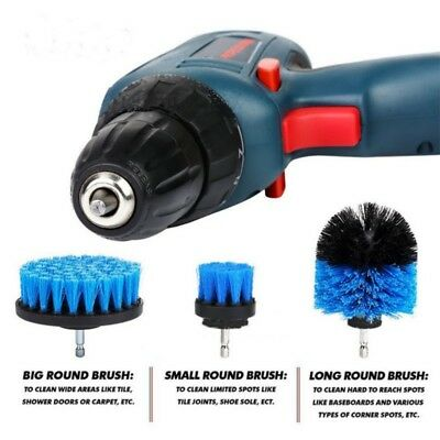 3Pcs Tile Grout Power Scrubber Cleaning Drill Brush Tub Cleaner Combo Attachment