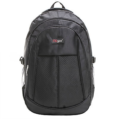 19 Inch Black Multi Purpose School Book Bag / Travel Carry On Backpack Bag