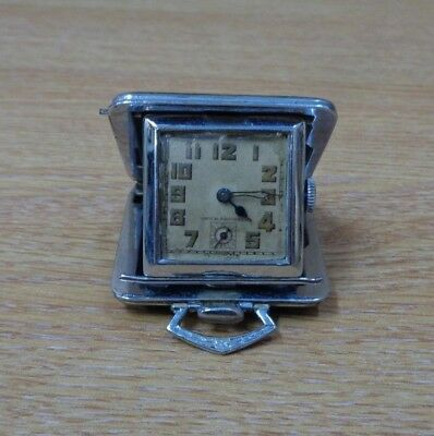 Vintage Antique Shagreen Travelling Watch Time Continental ? Folding Clock