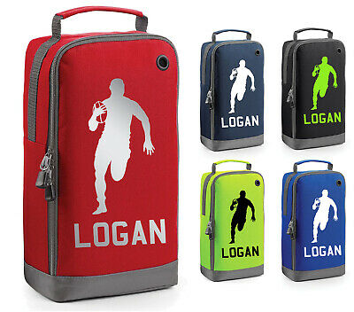 Personalised Childrens Rugby Boot Bag Kids Sports Pe Football Bootbag Kit
