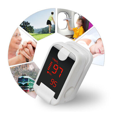 OLED Pulse Oximeter Oximetery Blood oxygen Monitor Heart Rate Monitor Lanyard A+