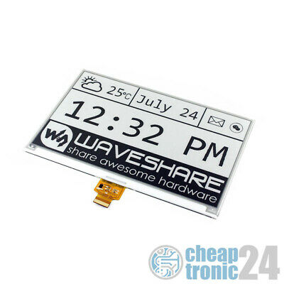 Waveshare 7,5inch E-Ink E-Paper Display 640x384 raw SPI Raspberry Pi Arduino