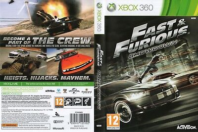 Fast And Furious Showdown (Xbox 360) Replacement Case