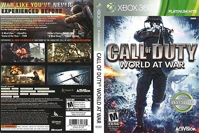 Call Of Duty World At War (Xbox 360) Replacement Case