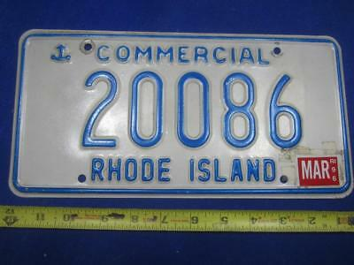 RI License Plate Commercial 1996 20086
