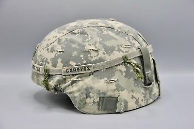 Original US Army Advanced Combat Helmet Named with ACU Cover Iraq Afghanistan