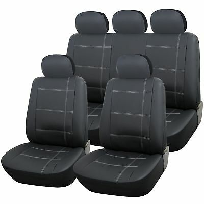 Grey Leather Look Full Set Seat Covers For Seat Ateca 2016 onwards