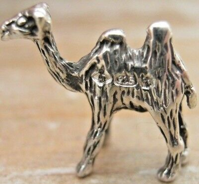 Sweet Antique Style Hallmarked Miniature Solid Sterling Silver Camel Dromedary