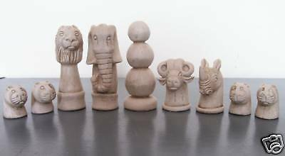 African Animals chess set latex moulds