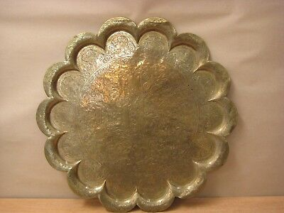 Large Brass hanging charger plate tray 61cm decorative