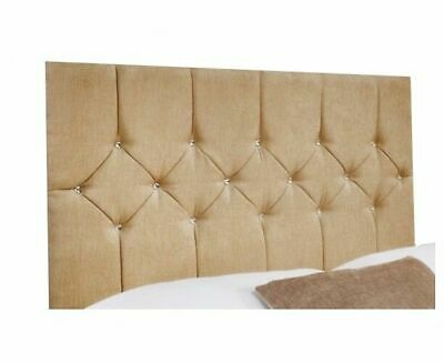 Belle Chenille Crystal Hand Tufted Headboard in Various Sizes and Colours