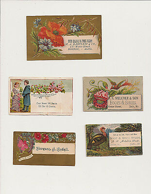 Victorian Trade Cards 5 Antique Trade Cards Boots Shoes & More
