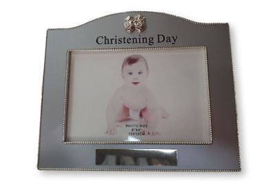 French Country Vintage Inspired Photo Frame Christening Day Silver 6x4inch New