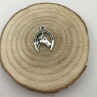 4Pc Horse Head Charm Tibetan Silver Tone Pendant  Charms Pendants 15x20mm