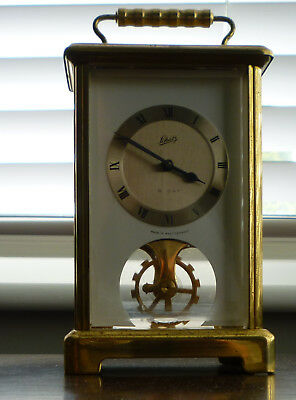 Vintage Brass Carriage Clock Schatz West Germany 2 Jewels 8 Day Unadjusted