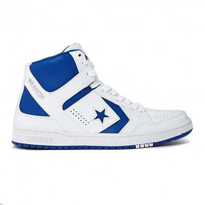 Converse Weapon Mid White Blue High Basketball Shoes