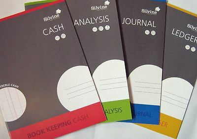 Silvine A4 ACCOUNTS BOOK KEEPING - Cash | Journal | Analysis | Ledger