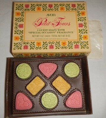 Vintage 70's Avon Petit Fours Candy Shaped Guest  Soap in Box