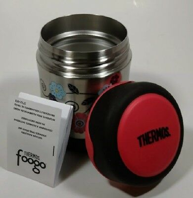 Portable THERMOS FOOGO Vacuum Insulated Stainless Steel 10 oz Food Jar BPA Free.