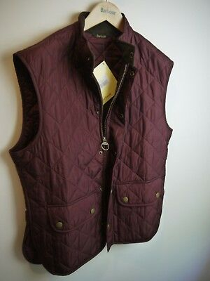 Barbour Mens Lowerdale Vest, Purple, New With Tags, XL