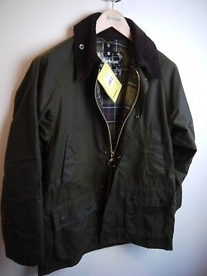 Barbour Mens Classic Bedale, Olive Green, Size 34, New With Tags, Olive Green