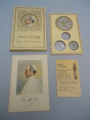 1954 Souvenir Book Citta del Vaticano Mint coin 17 stamps Pope Pius XII Prayer