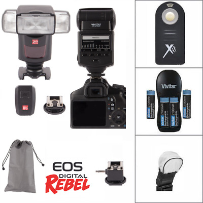 Professional Flash +24G  Accessory Kit for Canon EOS Rebel T5 T5I T6 T6I T7 80D