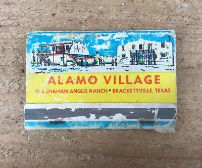 Vintage Alamo Village Angus Ranch Brackettville, TX-Matches- Matchbook-Tobacco