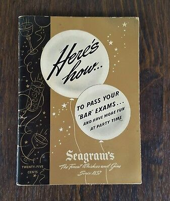 Vintage, early 1960s at the latest, Seagram's Party Quizes and Recipes
