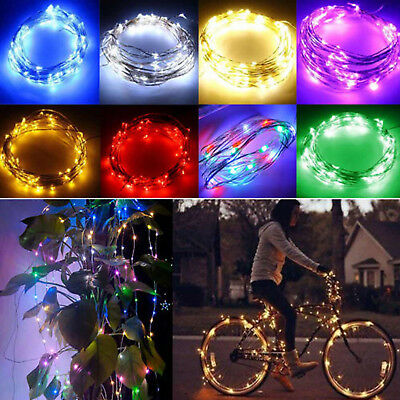 1M Led Fairy String Lights 9 Colors LED Battery Micro Rice Wire Copper Lamp Xmas