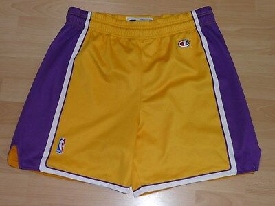 LA Lakers NBA Basketball Shorts Champion L Bryant, O'Neal, Gasol, Odom gelb