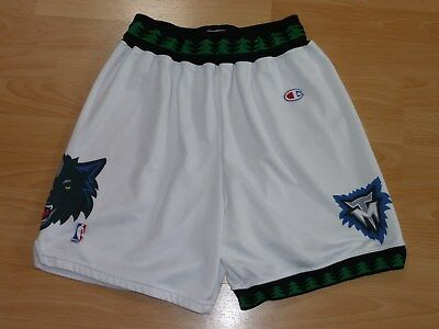 Minnesota Timberwolves NBA Basketball Shorts Champion L Garnett Sprewell Marbury