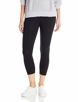Lysse Women's Tummy Control Shaping Cotton Capri Leggings,Black,L