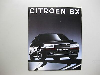 Citroen BX incl. 4WD and GTi brochure Prospekt depliant Dutch tx 32pgs 1991 1992