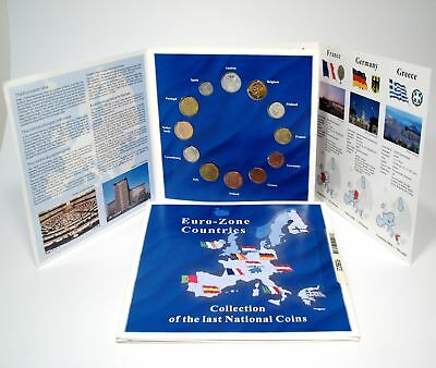 2 Euro Zone Countries Collection of The Last National Coins 12 Coins 2 Sets