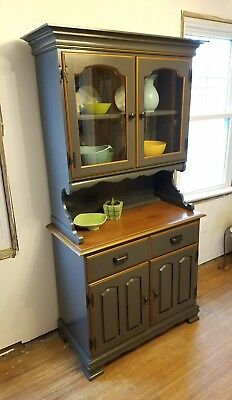 SMALL KITCHEN HUTCH Cabinet Rock Maple Construction ...