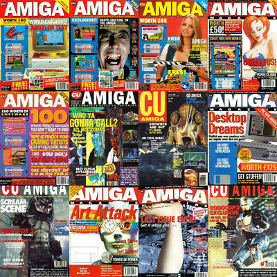 CU AMIGA MAGAZINE - Complete Collection 104 Issues PDF INCLUDING COVER DISKS